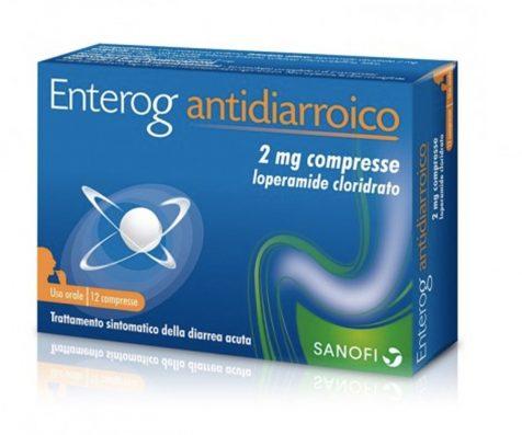 Enterog Antidiarroico 12 Compresse 2 Mg