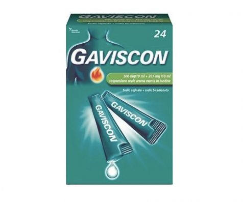 Gaviscon 24 bustine orale 500 mg