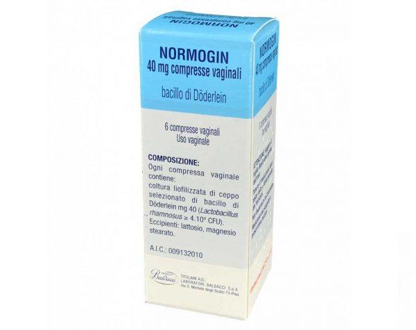 NORMOGIN 6 compresse vaginali 40 mg