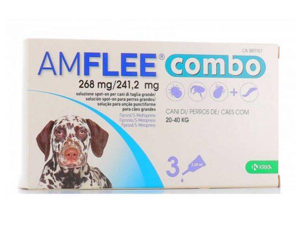 AMFLEE COMBO spot-on soluzione 3 pipette cani da 20 a 40 Kg