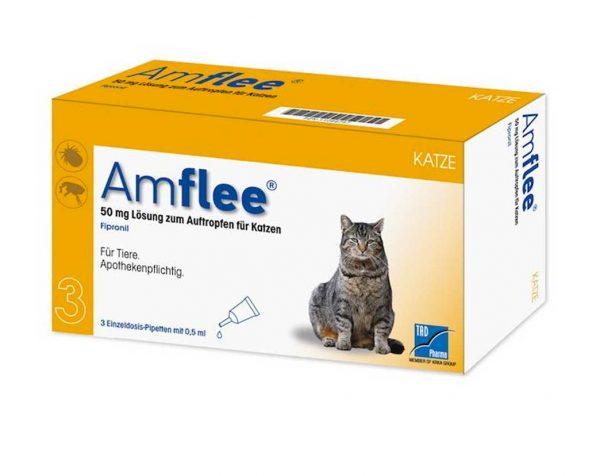 AMFLEE spot-on soluzione 3 pipette 0,5 ml 50 mg gatti